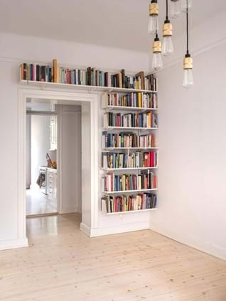 bookshelves love the open singular shelves instead of bookcases e0eb48ef9b541751983bb9a5289eddea6